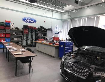 Office area of a Mechanic Garage