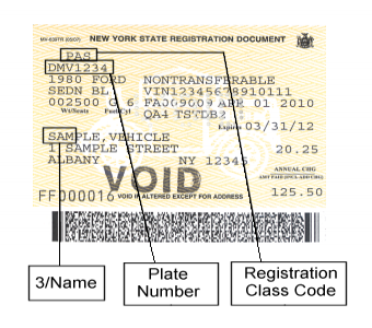 Sample Vehicle Registration