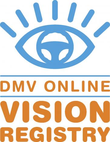 This is an image of the DMV Online Vision Registry logo