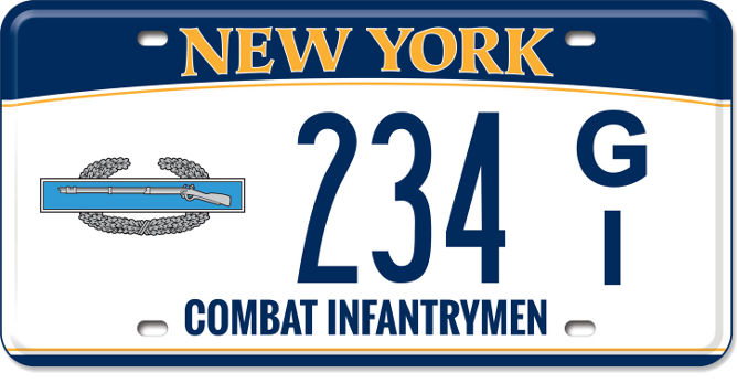 Image of a Combat Infantryman custom plate