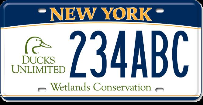 Ducks Unlimited custom plate