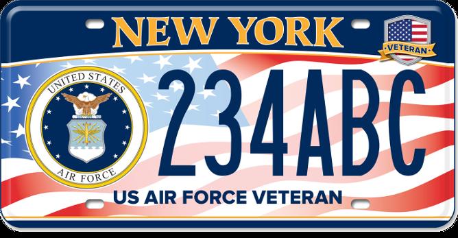 US Air Force Veteran custom plate