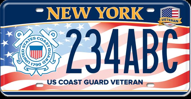 US Coast Guard Veteran custom plate