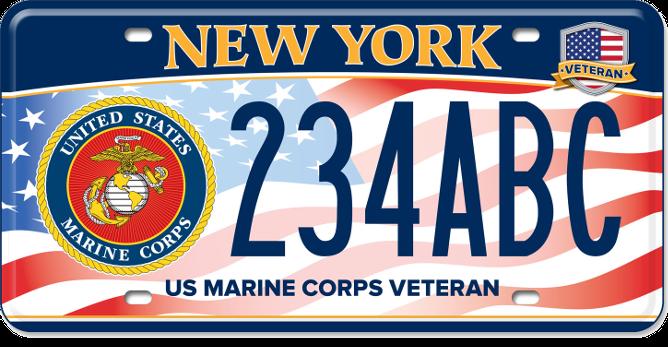 US Marine Corps Veteran custom plate