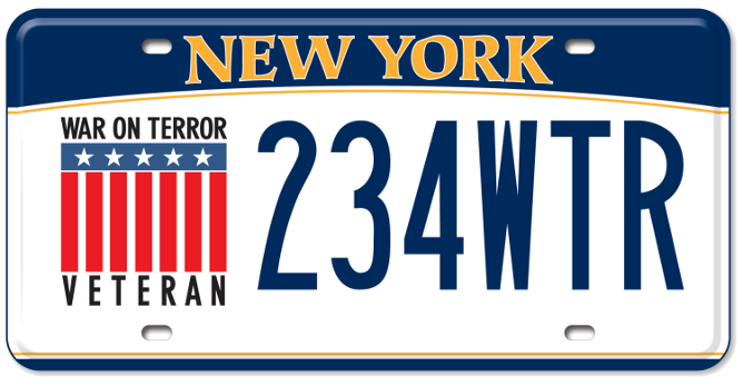 War on Terror Veterans custom plate