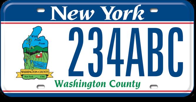 Washington County custom plate