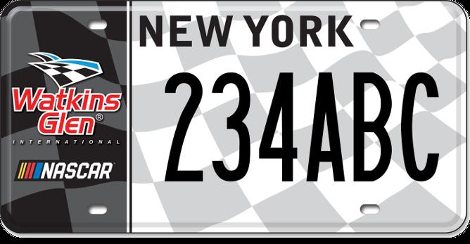 Watkins Glen International custom plate