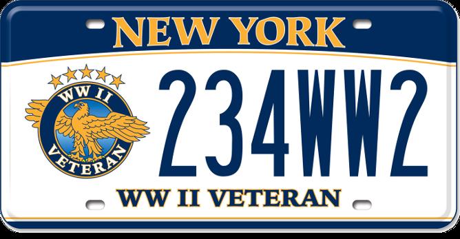 World War II Veteran custom plate