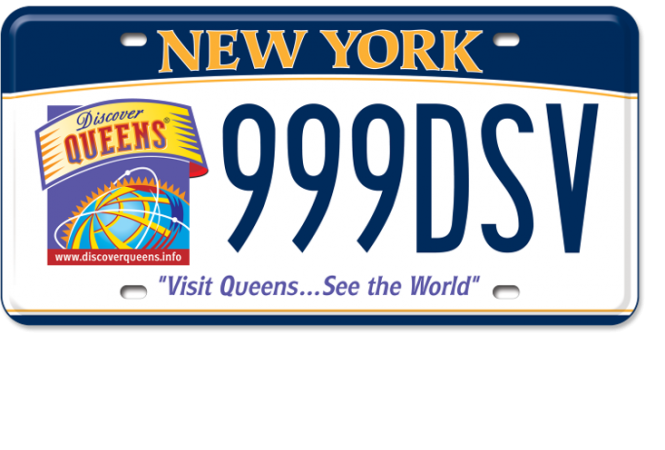 Discover Queens custom plate