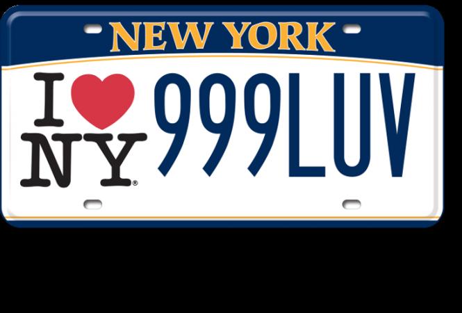 I Love NY custom plate