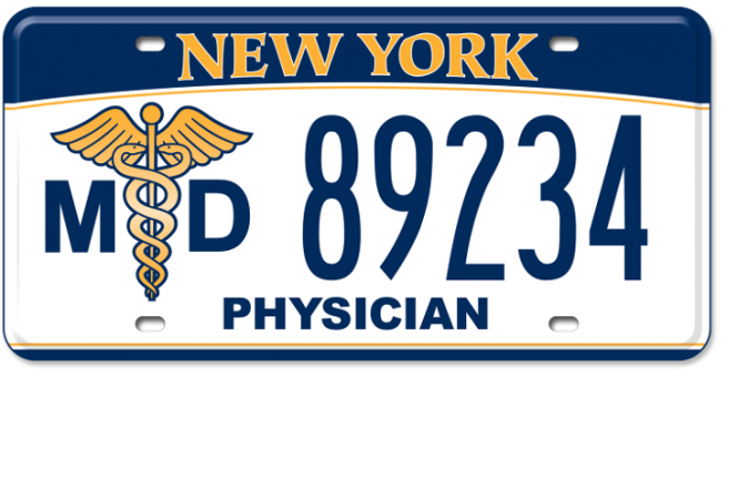 Physician custom plate