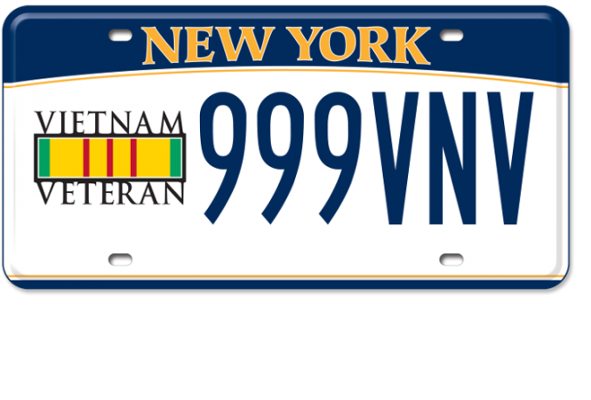 Image of the Vietnam Veteran plate