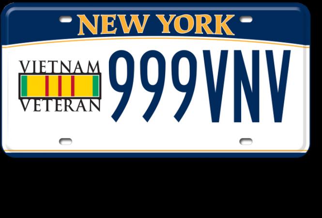 Image of the Vietnam Veteran plate