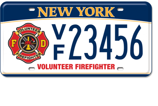Volunteer Firefighter custom plate
