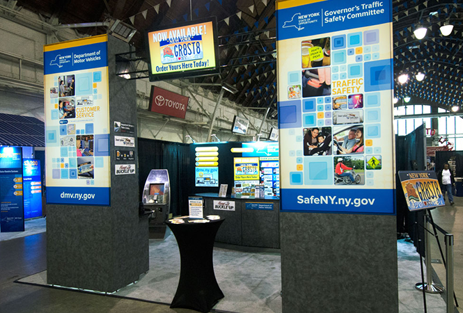 DMV display at public event