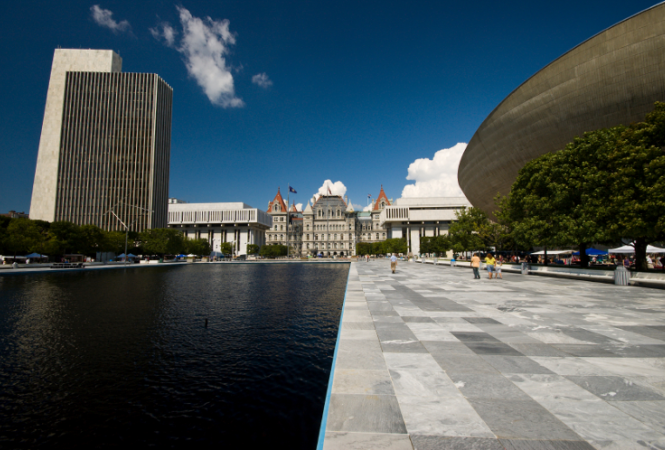 Image of the Empire State Plaza in Albany, NY