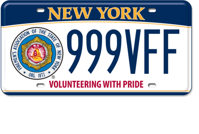 Firemen's Association of the State of New York custom plate