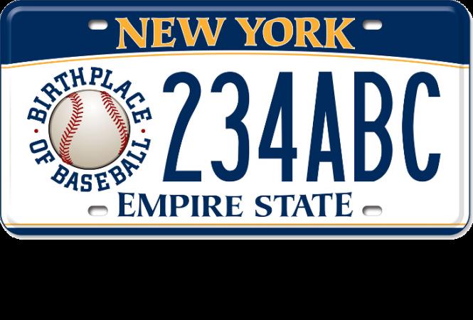 Birthplace of Baseball custom plate