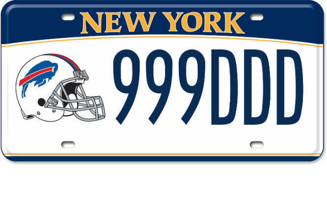 Image of a Buffalo Bills custom plate