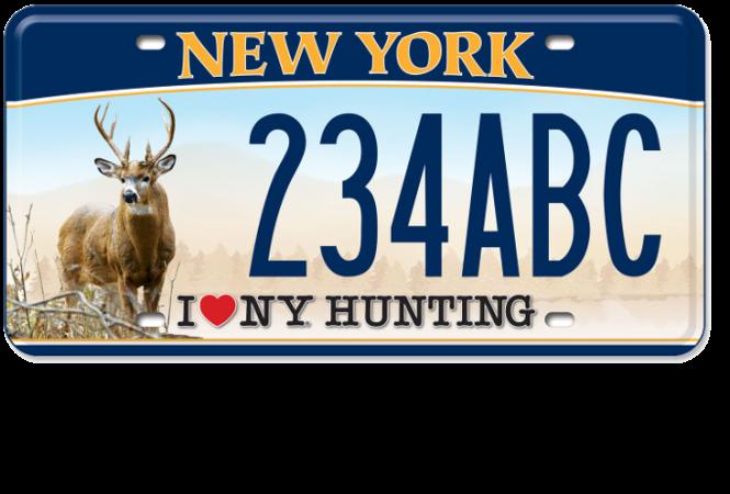 I Love NY Hunting  - Deer custom plate