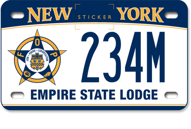 Image of a Fraternal Order of Police motorcycle custom plate