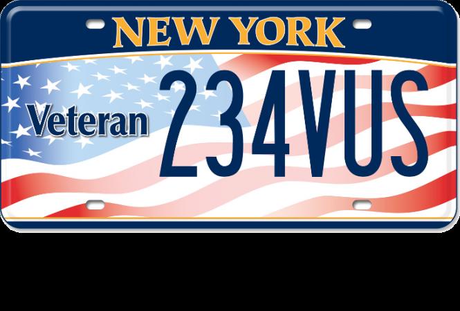 image of a US Veteran plate