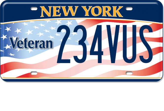 Image of a US Veteran custom plate