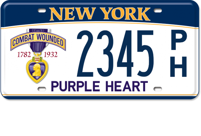 Purple Heart custom plate
