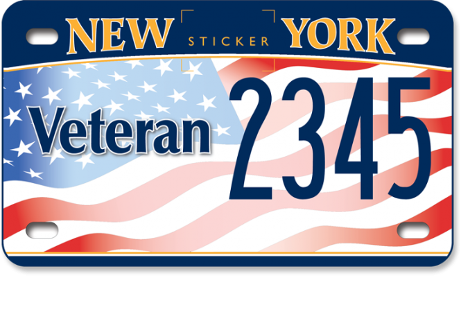 image of a US Veteran motorcycle custom plate