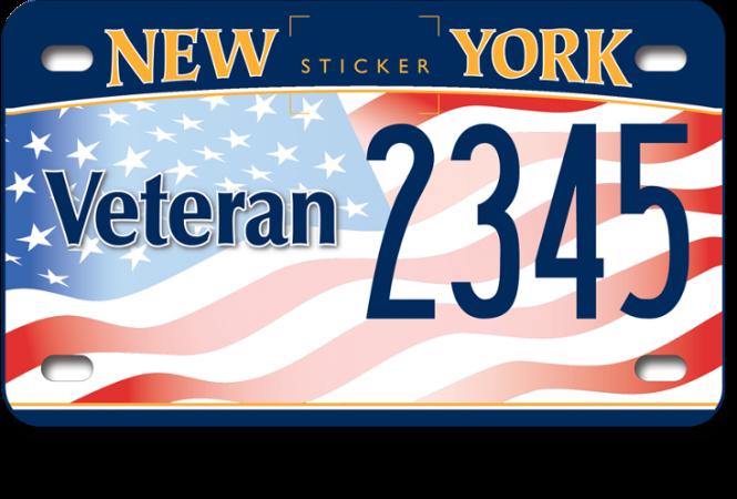 image of a US Veteran motorcycle custom plate