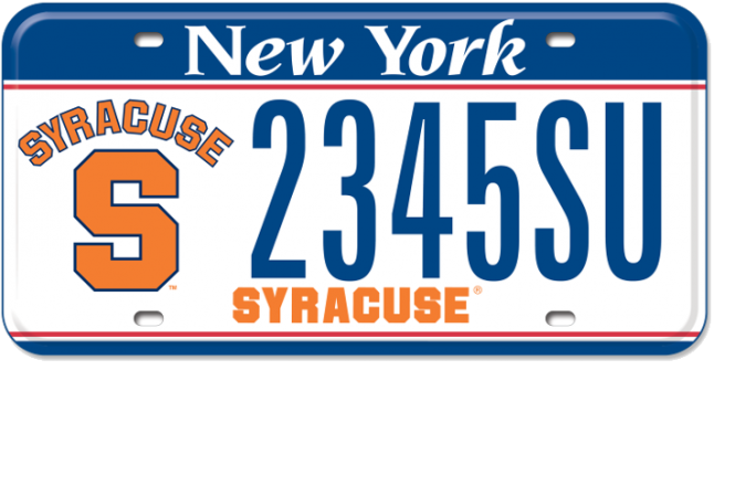 Syracuse University custom plate slider