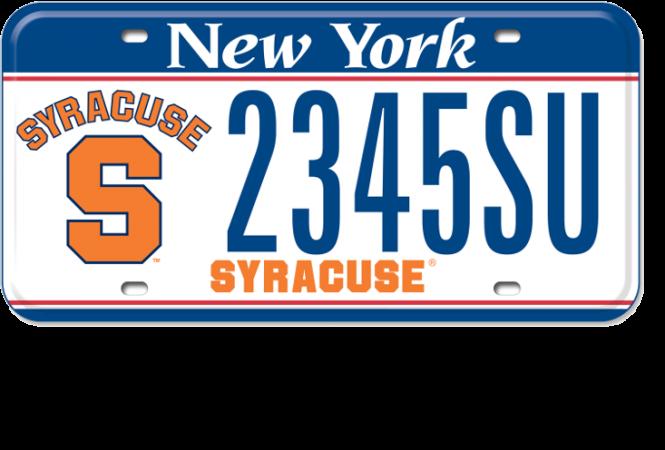 Syracuse University custom plate slider