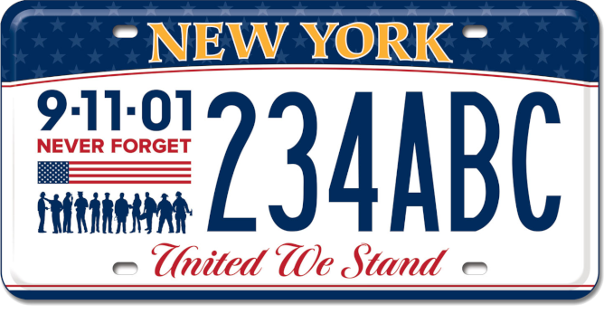 9-11 Remembrance Custom Plate