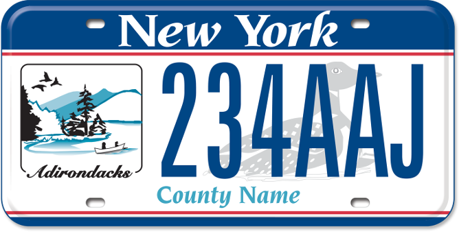 Adirondack region custom plate