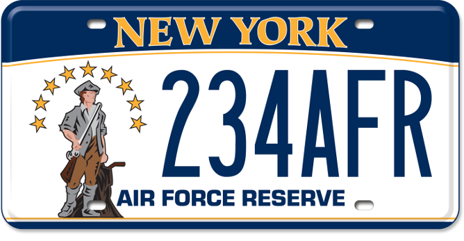 Air Force Reserve custom plate