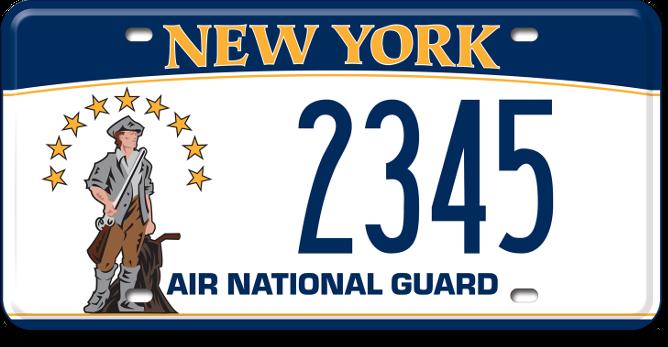 Air National Guard custom plate