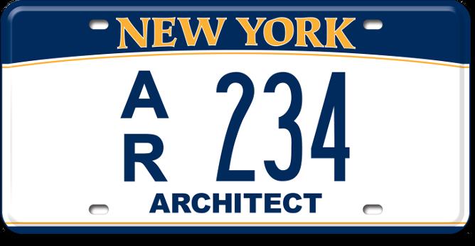 Registered Architect custom plate