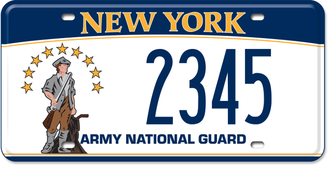 Army National Guard custom plate