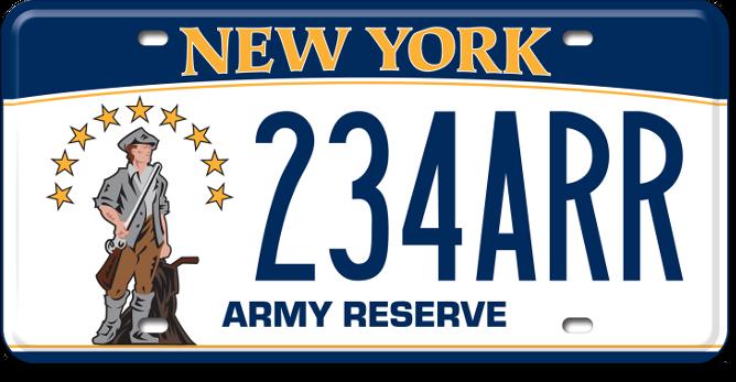 Army Reserve custom plate