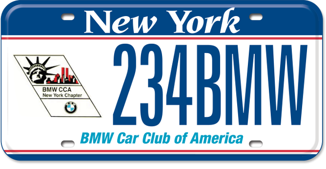 BMW Car Club of America custom plate