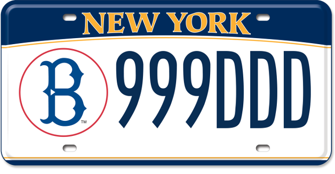 Brooklyn Dodgers custom plate