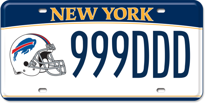 Buffalo Bills custom plate