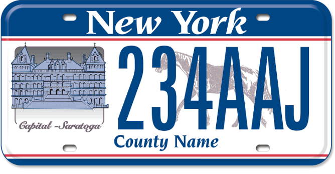 Capital-Saratoga Region custom plate