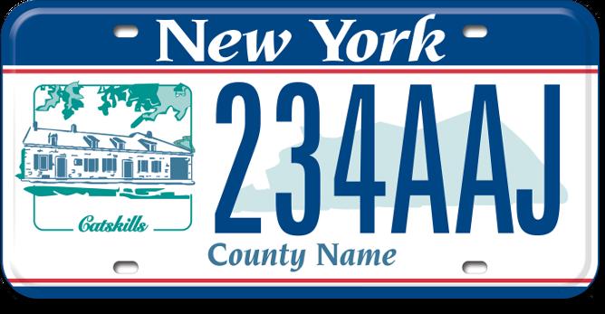 Catskills Region custom plate