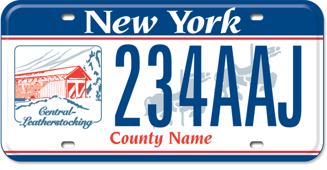 Central-Leatherstocking Region custom plate