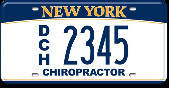 Chiropractor custom plate