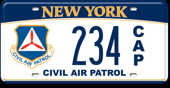 Civil Air Patrol custom plate