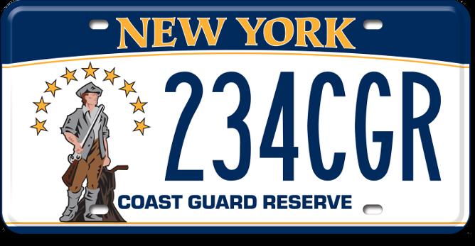 Coast Guard Reserve custom plate