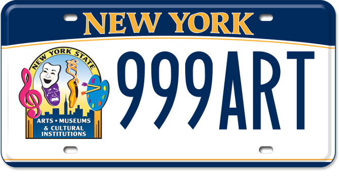 New York State Cultural Institutions and Museums custom plate