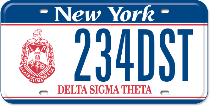 Delta Sigma Theta custom plate